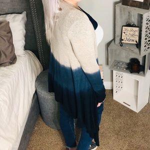 belleamejanice Sweaters - >>1 LEFT<< Knit Lightweight Tie Dye Ombré Cardigan
